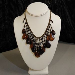 Brown Acrylic Bead Necklace